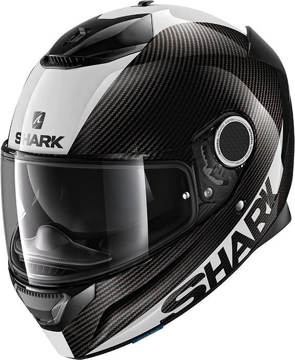 SHARK Spartan Carbon 1.2 Skin Carbon-Wit-Zilver DWS