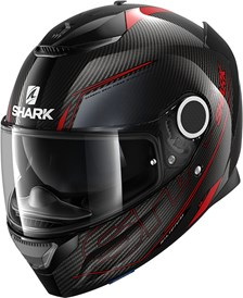 SHARK Spartan Carbon 1.2 Silicium Carbon-Rood-Antraciet DRA