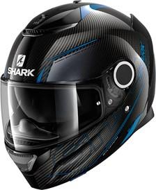 SHARK Spartan Carbon 1.2 Silicium Carbon-Bleu-Anthracite DBA