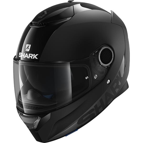 SHARK Spartan 1.2 Dual Black Mat/glanzend zwart BLK