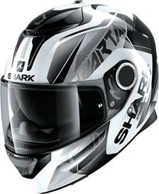 SHARK Spartan 1.2 Karken Blanc-Noir-Noir WKK