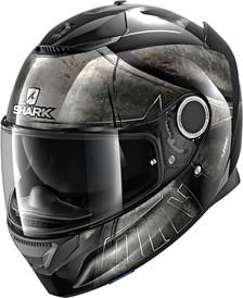SHARK Spartan 1.2 Hoplite Noir-Chrome-Noir KUK