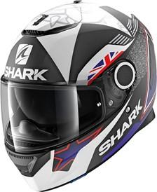 SHARK Spartan 1.2 Rep. Redding 2017 Mat Noir-Bleu-Blanc KBW