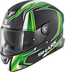 SHARK Skwal 2 Rep. Sykes Mat Noir-Vert-Blanc KGW