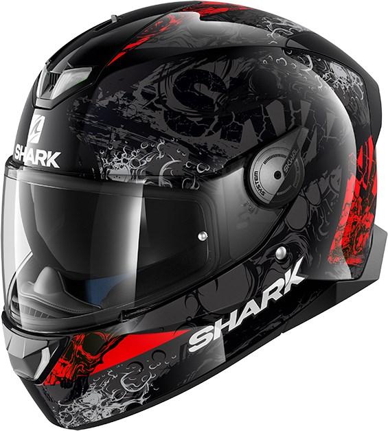 SHARK Skwal 2 Nuk'hem Zwart-Antraciet-Rood KAR