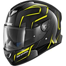 SHARK Skwal 2 Flynn Noir-Jaune-Anthracite KYA White led