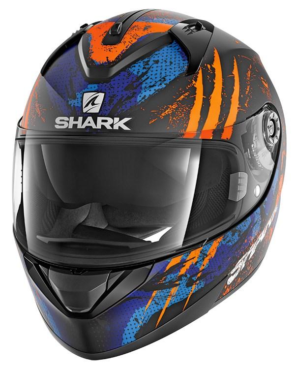 SHARK Ridill 1.2 Threezy Mat Zwart-Oranje-Blauw KOB