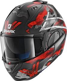 SHARK Evo-One 2 Skuld Mat Noir-Blanc-Rouge KWR