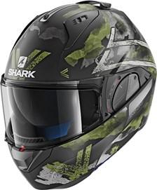 SHARK Evo-One 2 Skuld Mat Noir-Vert-Anthracite KGA