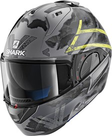 SHARK Evo-One 2 Skuld Mat Anthracite-Jaune-Noir AYK