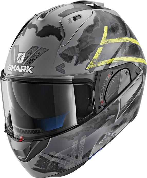 SHARK Evo-One 2 Skuld Mat Antraciet-Geel-Zwart AYK