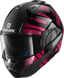 SHARK Evo-One 2 Lithion Dual Zwart-Chroom-Paars KUV