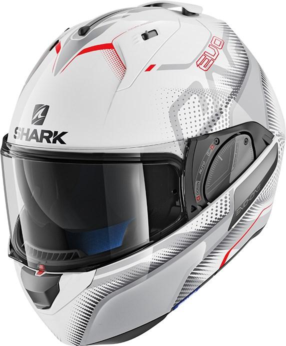SHARK Evo-One 2 Keenser Wit-Zilver-Rood WSR