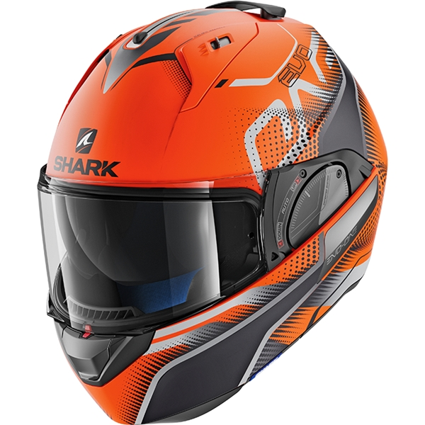 SHARK Evo-One 2 Keenser Mat Orange-Noir-Anthracite OKA