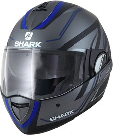 SHARK Evoline 3 Hyrium Mat Antraciet-Zwart-Blauw AKB
