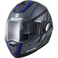 SHARK Evoline 3 Hyrium Mat Anthracite-Noir-Bleu AKB