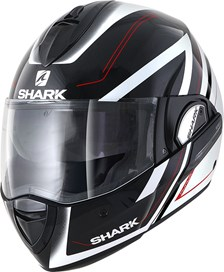 SHARK Evoline 3 Hyrium Zwart-Wit-Rood KWR