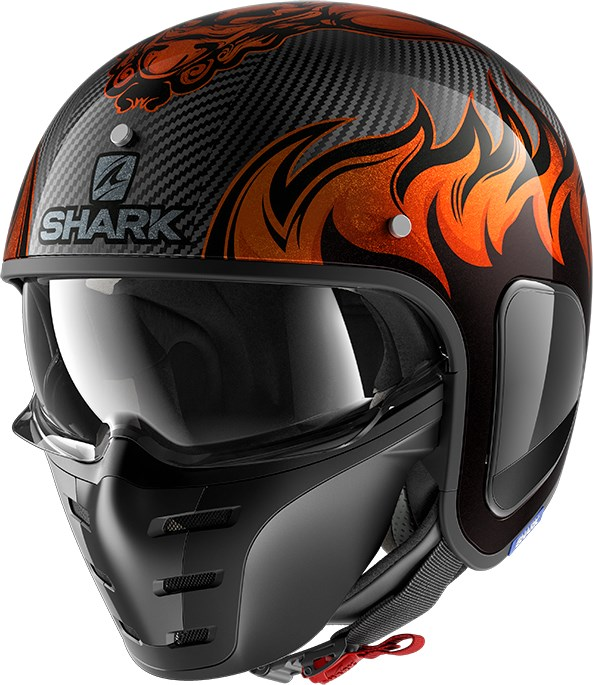 SHARK S-Drak Carbon Dagon Carbon-Orange-Orange DOO
