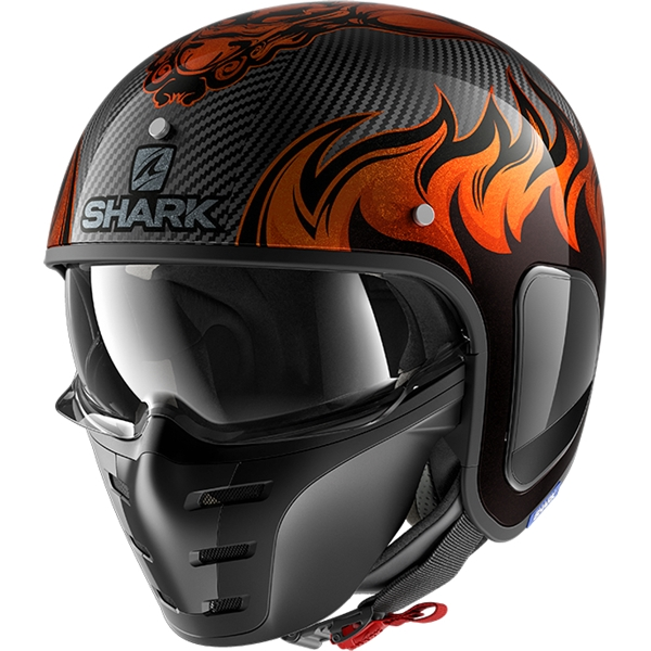 SHARK S-Drak Carbon Dagon Carbon-Orange-Orange DOO
