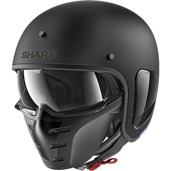 SHARK S-Drak Blank Noir mat KMA