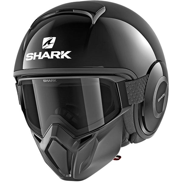 SHARK Street-Drak Blank Zwart BLK