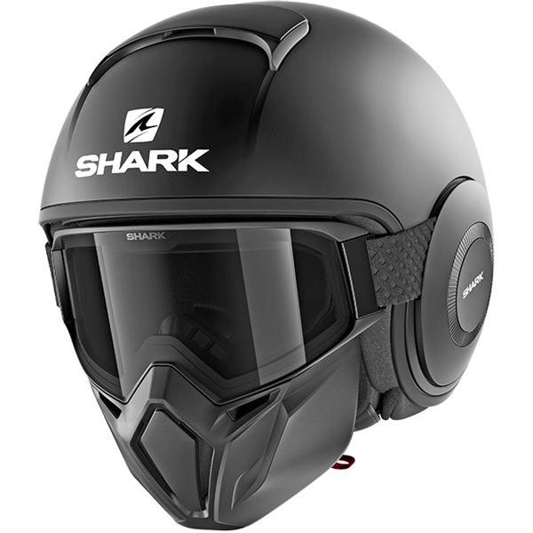 SHARK Street-Drak Blank Noir mat KMA