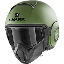 SHARK Street-Drak Blank Vert mat GMA