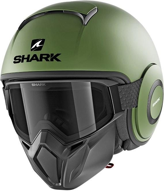 SHARK Street-Drak Blank Mat groen GMA
