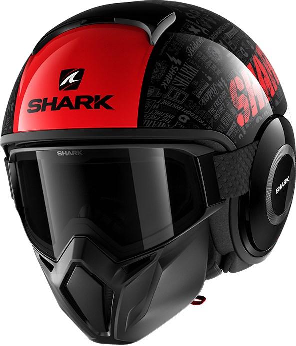 SHARK Street-Drak Tribute RM Zwart-Rood-Antraciet KRA