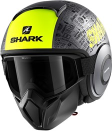 SHARK Street-Drak Tribute RM Mat Anthracite-Jaune-Noir AYK