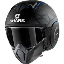SHARK Street-Drak Hurok Mat Noir-Bleu-Noir KBK