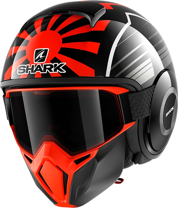 SHARK Street-Drak Rep. Zarco Malaysian GP Zwart-Oranje-Antraciet KOA