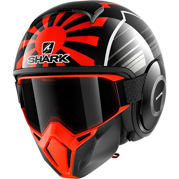 SHARK Street-Drak Rep. Zarco Malaysian GP Noir-Orange-Anthracite KOA