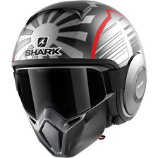 SHARK Street-Drak Rep. Zarco Malaysian GP Mat Anthracite-Argent-Rouge ASR