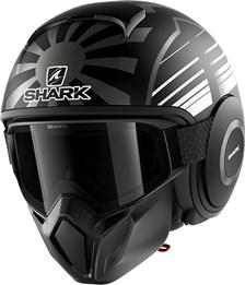 SHARK Street-Drak Rep. Zarco Malaysian GP Mat Zwart-Antraciet-Antraciet KAA