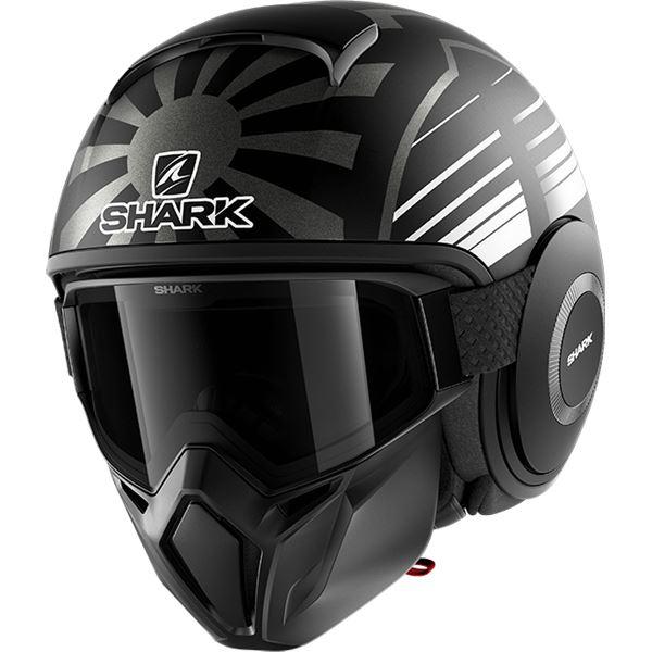 SHARK Street-Drak Rep. Zarco Malaysian GP Mat Noir-Anthracite-Anthracite KAA