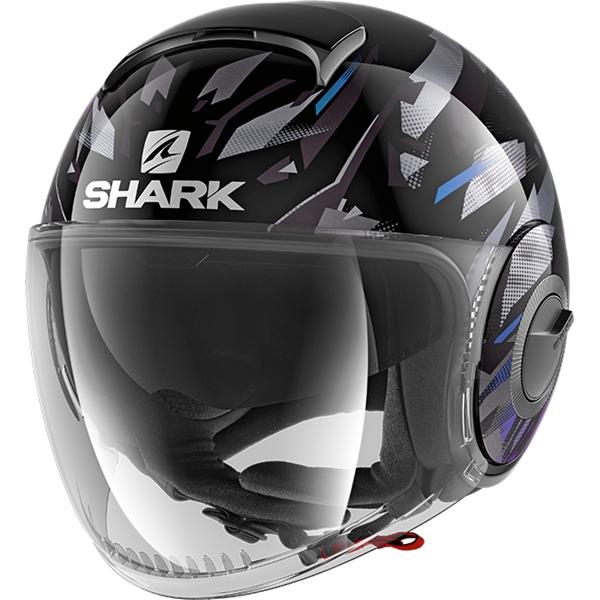 SHARK Nano Kanhji Zwart-Blauw-Glitter KBX
