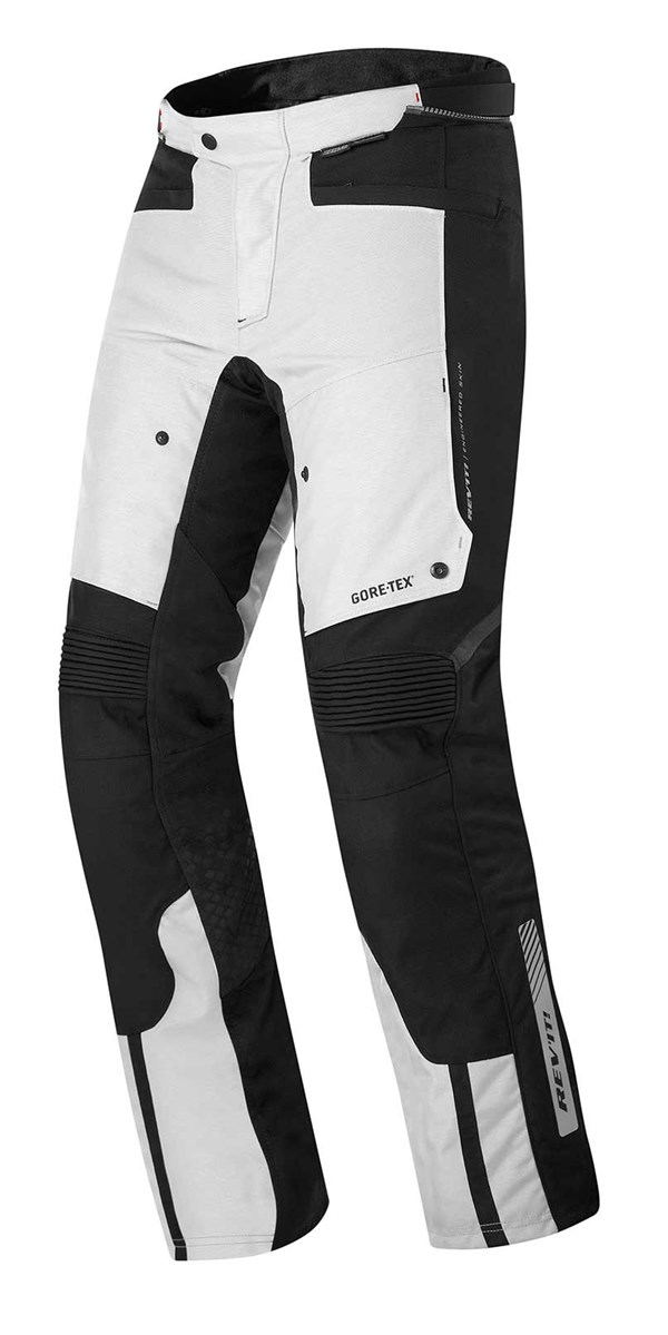 REV'IT! Defender Pro GTX pants Gris - Noir Courtes