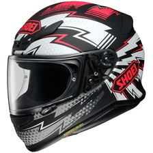 SHOEI NXR Variable Mat Zwart-Wit-Rood TC-1