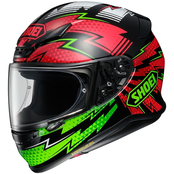 SHOEI NXR Variable Zwart-Rood-Groen-Wit TC-4