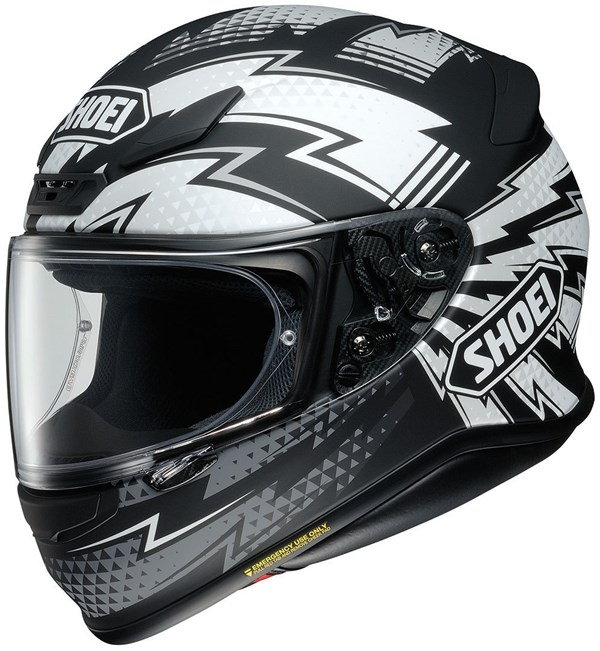 SHOEI NXR Variable Mat Zwart-Wit-Grijs TC-5