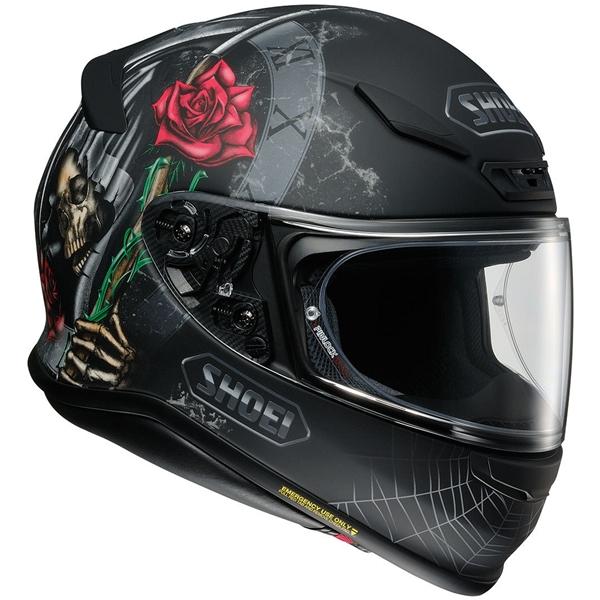 SHOEI NXR Dystopia Mat Noir-Blanc-Rouge-Vert TC-5