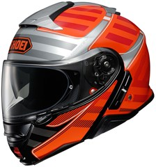 SHOEI Neotec II Splicer Noir-Argent-Orange TC-8