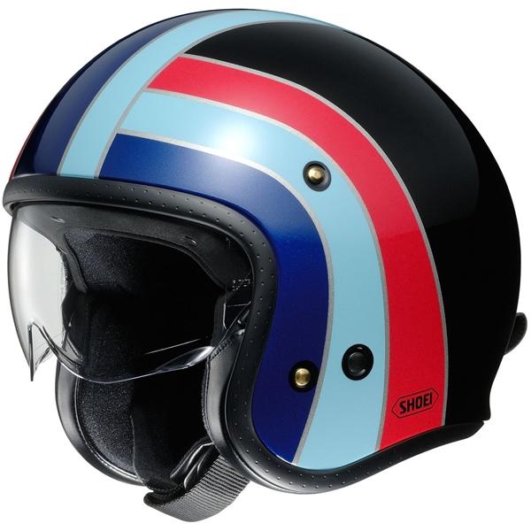 SHOEI J.O Nostalgia Zwart-Blauw-Rood TC-10