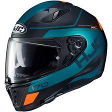 HJC I70 Karon Mat Zwart - Blauw - Oranje