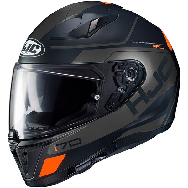 HJC I70 Karon Mat Zwart - Grijs - Oranje