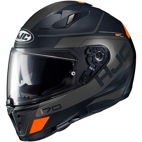 HJC I70 Karon Mat Noir - Gris - Orange