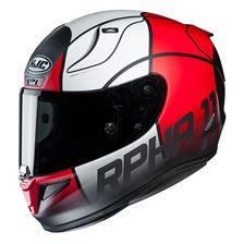 HJC RPHA-11 Quintain Mat Rood - Wit - zwart
