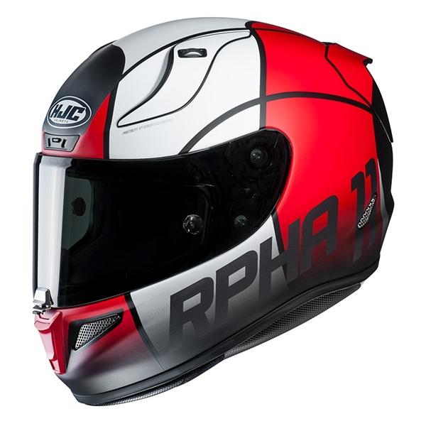 HJC RPHA-11 Quintain Mat Rouge - Blanc - Noir