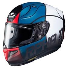 HJC RPHA-11 Quintain Mat Bleu - Rouge - Blanc